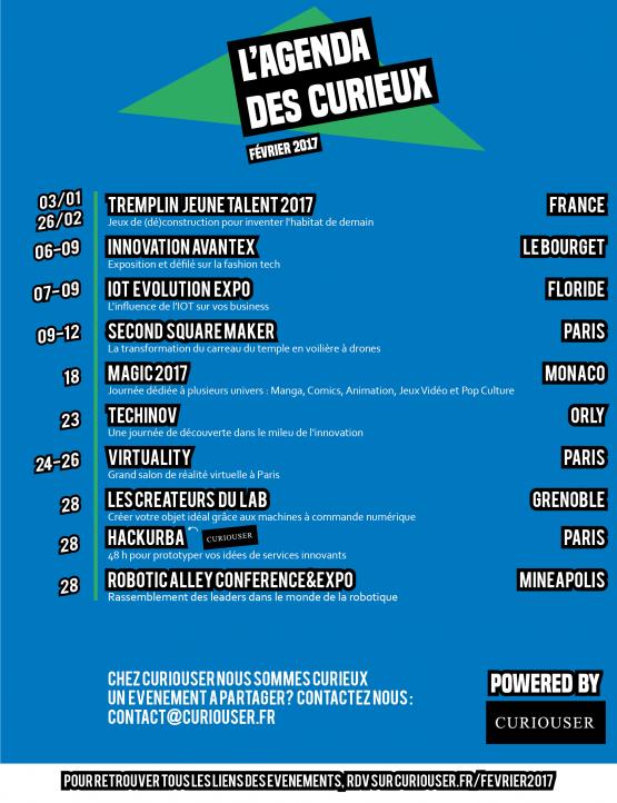 agenda des curieux fevrier 2017